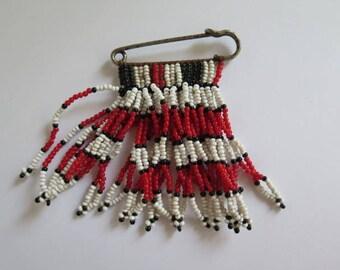 Zulu Pin//Zulu Love Letter Brooch//African Brooch