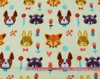 Cotton printed fabric 100% coupon 50 x 160 cm, with an animal print pattern