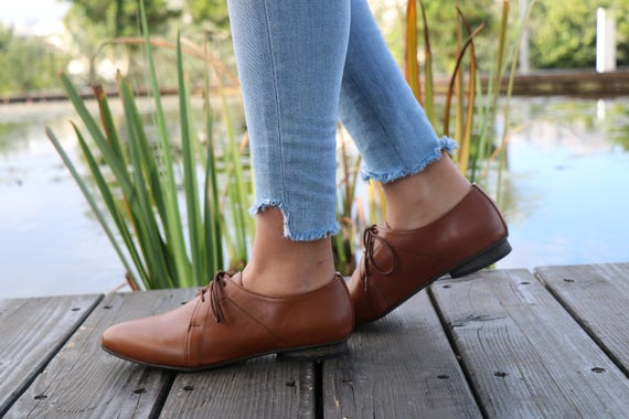 Shoes Shoes Shoes Shipping Shoes Flat shoes Shoes Also Casual designer Large Size HandMade Brown Leather Shoes Women Free Oxford AnxY1Fq7