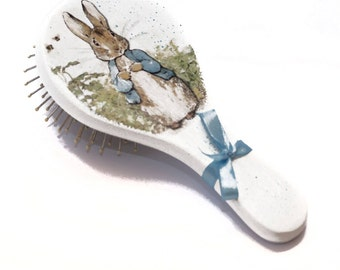 Peter Rabbit Baby Shower Peter Rabbit Party First Birthday Gift Boy Hairbrush One year Old Baby Boy Peter Rabbit Favors First Year Old Girl