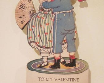 Vintage To My Valentine Mechanical Couple Dancing Valentine Card