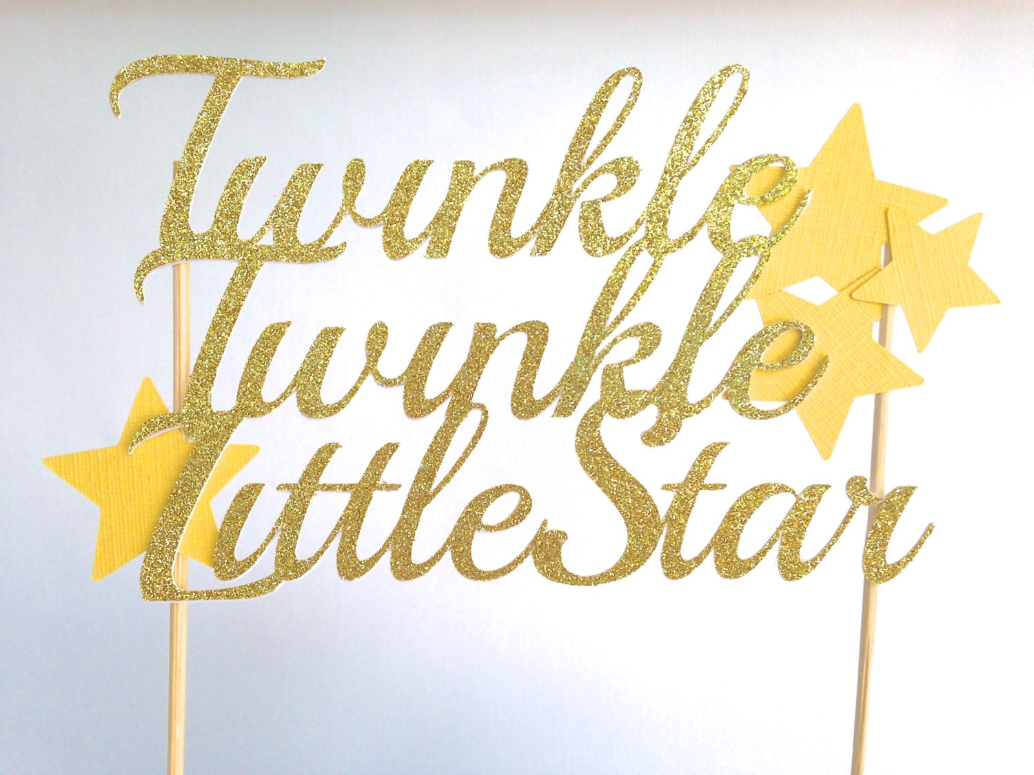Twinkle Twinkle Little Star Cake Topper, Baby Shower Cake Topper ...