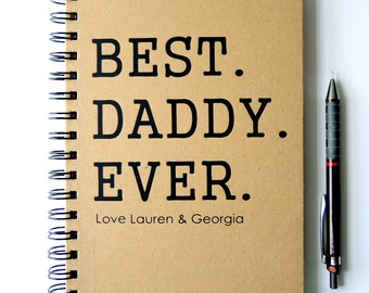 Personalised Father's Day Gift Notebook