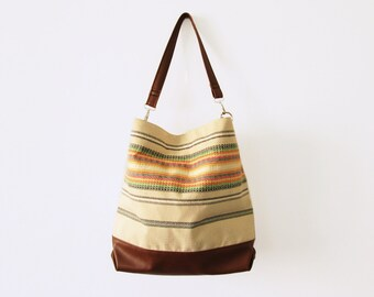 Ethnic Hobo bag, Bohemian, Boho bag, Large hobo, Casual bag, Summer bag, Shoulder bag, Slouchy