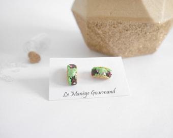 Miniature Taco earrings