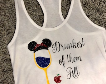Drunkest of Them All Disney Princess Epcot Food and Wine Festival Tank