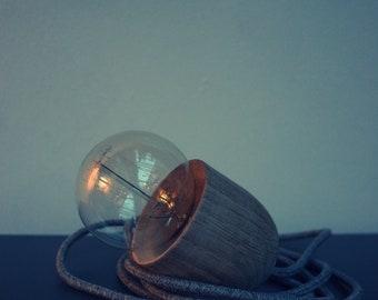 Oak Acorn Shaped Pendant Light