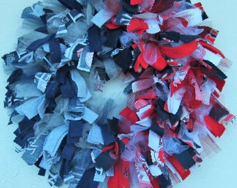 MLB House Divided Rag Wreath