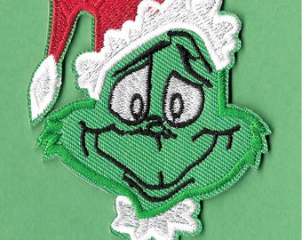 The Grinch - Doctor Seuss - Christmas - Embroidered Iron On Applique Patch