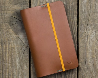 A6 Leather Cover, Moleskine Cover, Handcrafted, Notebook cover, BUJO cover, Distressed leather, Full grain