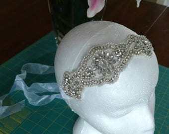 Beaded Bridal Headpiece with Jewels