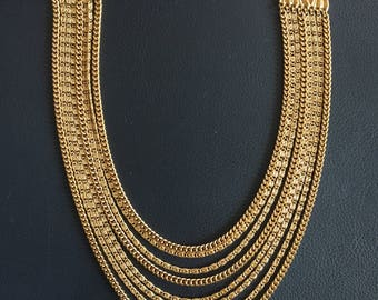 Multi-Strand Gold Necklace by Monet