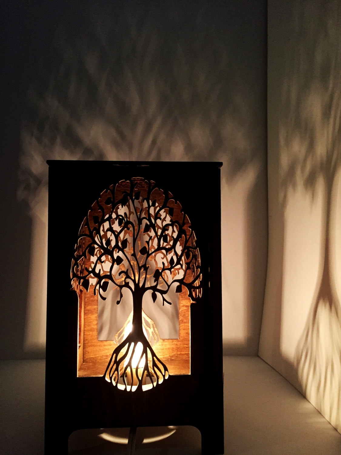 Table lamp lamp desk light laser cut wood lamp laser