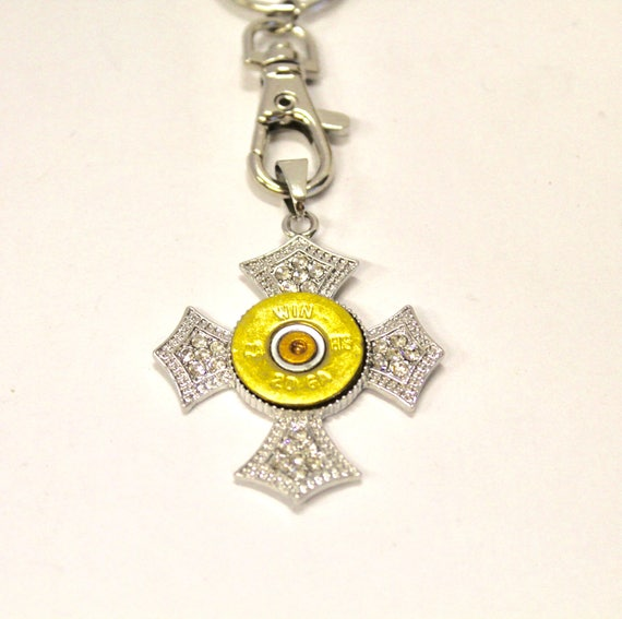 Shotgun Shell Cross Keychain, Shooting Sports Gift, Shotgun Sports Gift, Christian Gift for Her, Gift For Mom, Religious Gift For Graduate