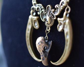 Bird of Prey Bronze Statement necklace