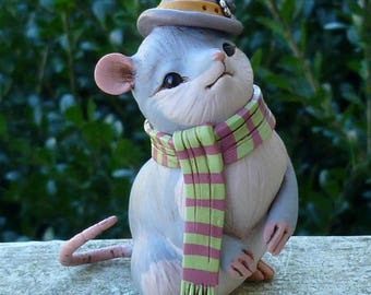 Scarf Mouse Steampunk Myxie Pal Sculpture