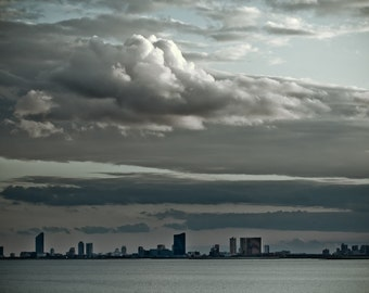 Clouds Cityscape Photography - Atlantic City, New Jersey -  8x12