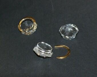Swarovski Crystal Clear Octogon Component-Decoration-8019 22 mm Drawer Pull