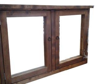 Rustic Medicine Cabinet w/Miror