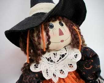 Primitive Halloween Witch | Halloween Decoration | Witch for Halloween | Halloween Home Decor | Halloween Witch Doll | Halloween Raggedy