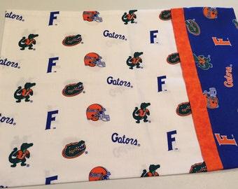 Gators / Orange & Blue - Travel Size Pillow Case - 100% Cotton - Free Shipping