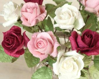 First Wedding Anniversary Gift | Paper Anniversary Flower Bouquet
