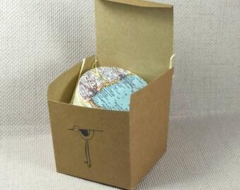 Carte de dessous de verre, cartes Vintage 1961, dessous de verre personnalisé, décoration d'intérieur idées, cadeaux voyage Wanderlust, dessous de verre, Coaster Set cadeau,