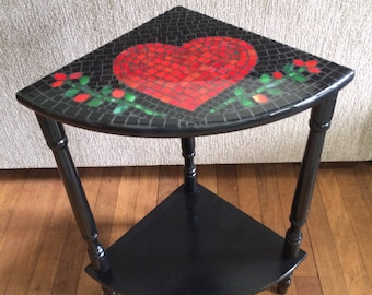 Red Heart Mosiac Table