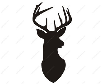 Deer Svg Deer Clipart AI dxf eps png Deer Head SVG Cut files Svg Files for Silhouette Cameo or Cricut