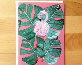 Flamingo Lover | Handmade Card | Pink