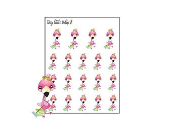 Planner Stickers Flamingo Cleaning