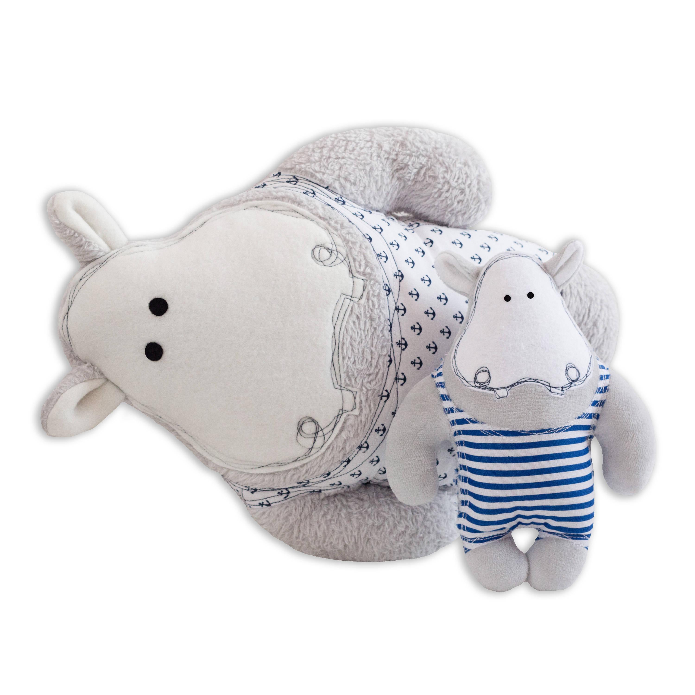 Stuffed animal sewing pattern large and small hippo cushion pdf this is a digital file jeuxipadfo Choice Image