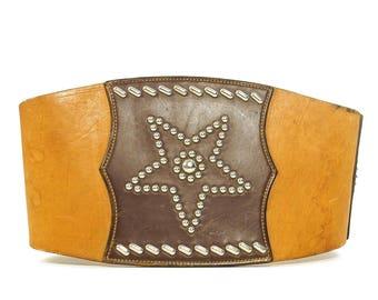 40s Leather Kidney Belt RARE Vintage 1940s Worn In Handmade Bronco Bullet Belt Motorcycle Western Rodeo Biker Rock N Roll Distressed Leather