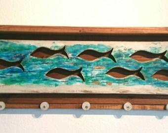 Handgefertig wall hanger wood