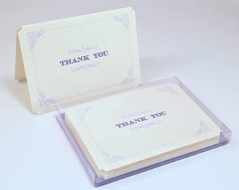 Wedgewood Letterpress Thank You Cards - Set of 6
