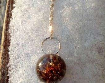 Resin Necklace pinecone, necklace with alder pine cone