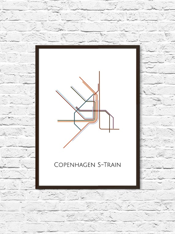 Copenhagen Metro Map Subway Map Map Art Copenhagen Metro