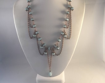 Amazonite and copper set