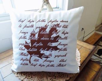 International Leaf Silhouette Toss Pillow