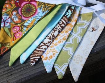 Designer's Choice Warm Neutral Tones Bunting Banner, 10 Medium Flags, Ready to Ship.  Earthy Theme.