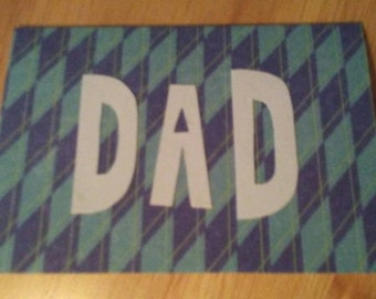 Handmade greeting card for DAD Fathers Day Birthday blank inside write your own note Best wishes Pop Pa Father Daddy uncle brother Godfather