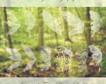 11 Fairy Wings Photoshop BRUSHES Set 2!