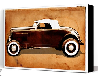 Car Art - Hot Rod - Canvas Art Print, Automobile Art, Car Gift, Garage Decor, Race Car, Man Cave Art, Garage Art, Auto art, Hot Rod Art