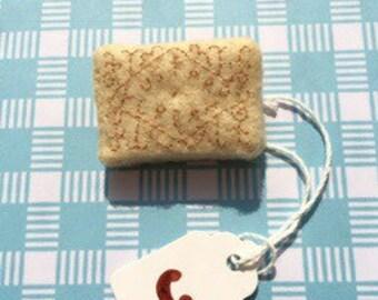 Custard Cream Brooch