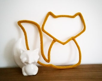 Fox achieved by knitting wool