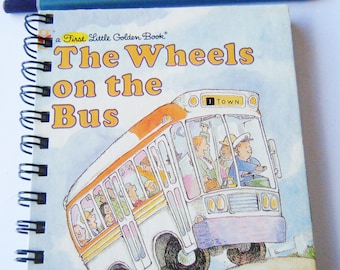 Sketch/Story Writing Book - The Wheels on the Bus recycled Little Golden Book