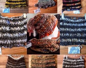The Lunamuse Cowl  turtleneck style handknit handpun oneofakind