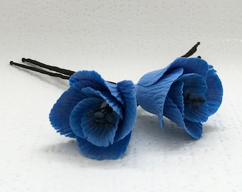 Flower hairpin, wedding accessories, hair jewelry.