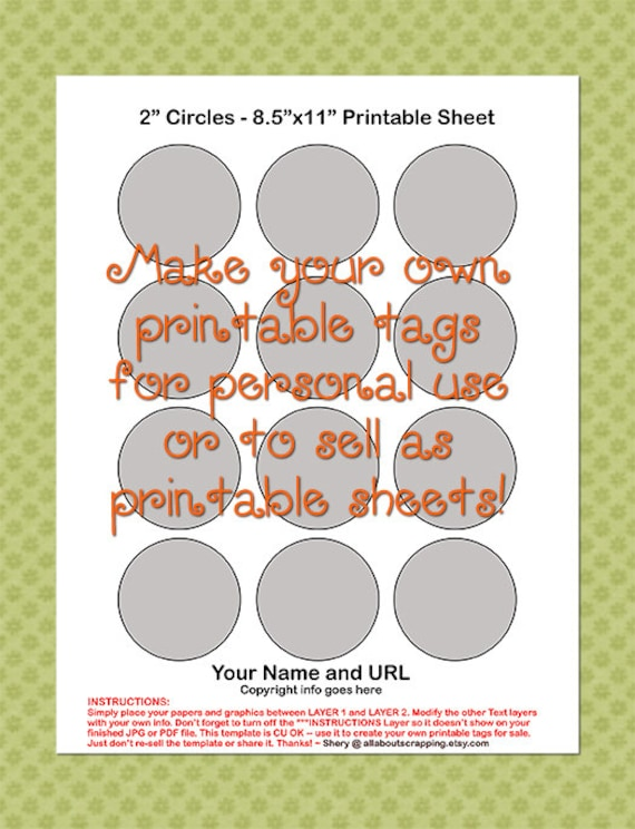 Printable Tags Labels Cupcake Topper Template 0025 2