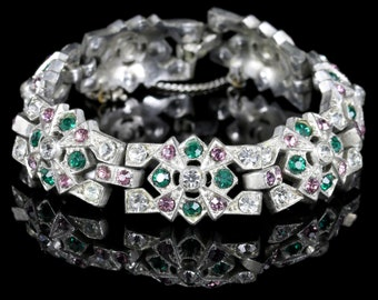 Art Deco Suffragette Bracelet Paste Circa 1920
